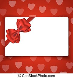 Love gift card with blank space for greetings