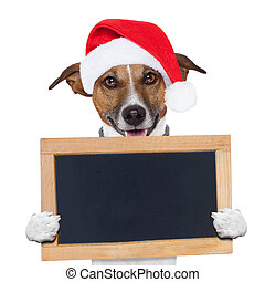 christmas banner placeholder dog wood board