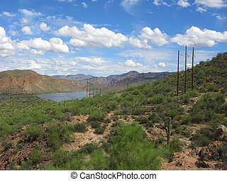 Arizona Canyon Lake - Arizona Mountain Canyon Lake in Tonto...