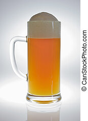 Beer mug with beer in backlight