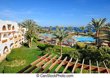 el, playa, natación, piscina, lujo, hotel, Sharm,...