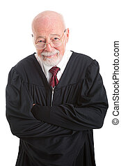 Friendly Competent Judge - Portrait of a friendly, competent...
