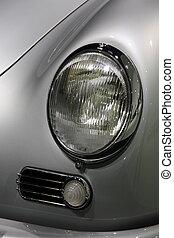 headlamp of the car