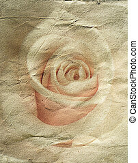 abstract grunge background with rose - abstract grunge paper...