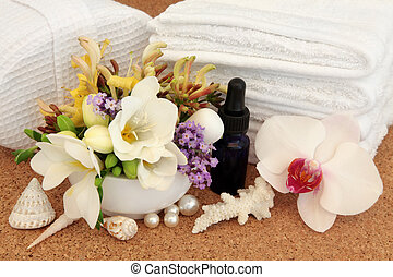Beauty Treatment - Spa beauty treatment accessories with...