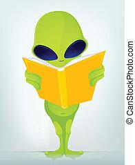 Funny Alien - Cartoon Character Funny Alien Vector...