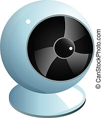 Realistic white webcam graphic