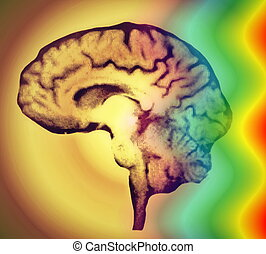 brain wave background texture