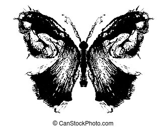 Abstract butterfly. Stylized image of a butterfly painted...