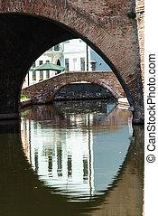 Comacchio Ferrara, Emilia Romagna, Italy - Famous bridge...