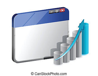 business news graph illustration design over white...