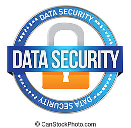Data Security illustration design over a white background