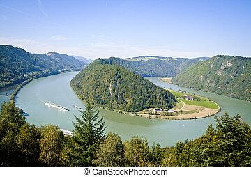 Curve of Danube River - Schloegener Schlinge, a famous...