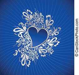 Blue Heart To The StValentine Vector - Heart to the...