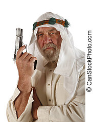 Middle Eastern Man With Weapon