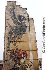 Graffiti art, Thessaloniki center - Graffiti of a woman,...
