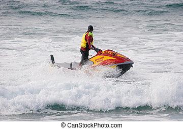 Jet Ski - Life saver on a jet ski