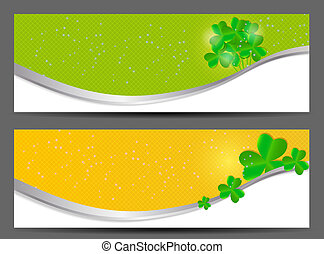 Saint Patrick`s day banner vector illustration