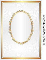 white background with gold ornaments