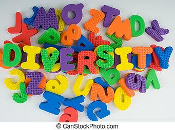 Diversity - Letters showing diversity