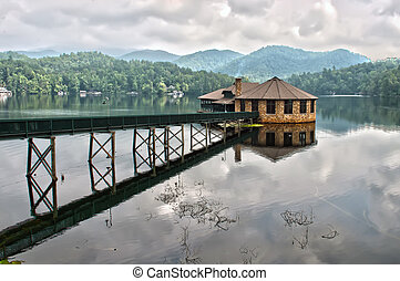 building on the lake