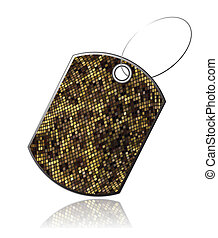 Tag of snake skin_6 - Tag leather snake with reflection,...