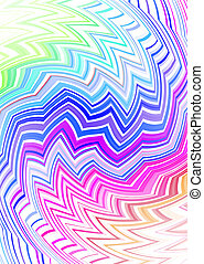 tribal zig zag subtle - Tattoo inspired rainbow background...