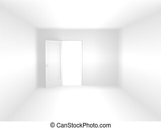 3d room of white color - Abstract 3d room of white color