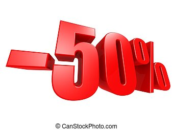 Minus 50 percent - Rendered artwork with white background