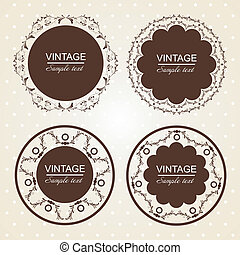 vintage lace frames.Vector illustration