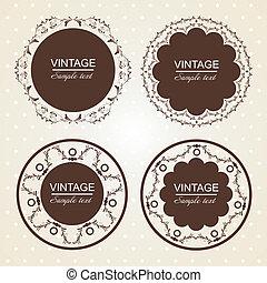 vintage lace frames.Vector illustration