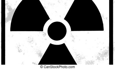 Radiation 02 - Radiation sign black and white design