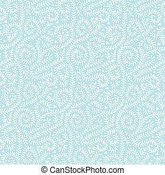 White on Pastel Blue Vine Pattern - Delicate white vines...