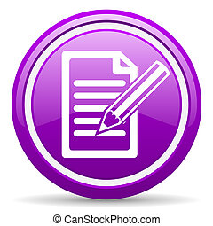 subscribe violet glossy icon on white background - violet...