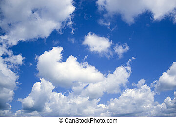 Awesome Clouds - A deep blue sky and perfect cottony clouds