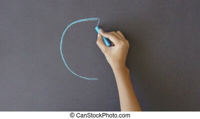 Marketshare Business Graph - A person drawing a Marketshare...