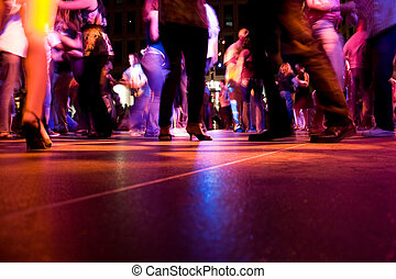 Dance Floor - A low shot of the dance floor with people...