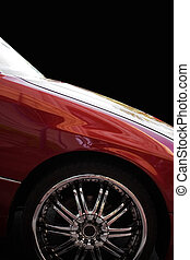 Custom Chrome Rims - A closeup of a chrome rim on a modern...
