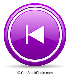 prev violet glossy icon on white background - violet glossy...