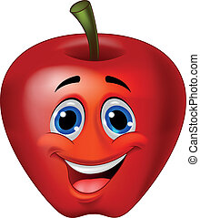 Apple cartoon - Vector illustration of apple cartoon...