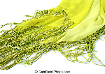 Sarong with beads isolated on white background.
