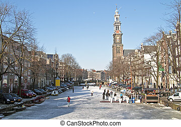 Winter in Amsterdam the Netherlands - Winter at the...