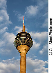 Tower Rheinturm in Dusseldorf, Germany