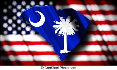 South Carolina 03 - Flag of South Carolina in the shape of...