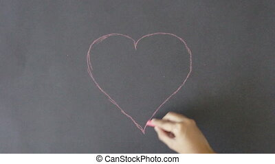 Valentines Day Heart - A person drawing a Valentines Day...