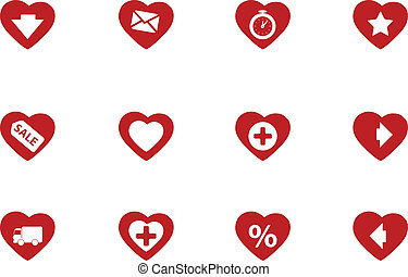 Heart shape icons