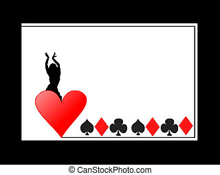 Casino girl - Heart casino girl frame