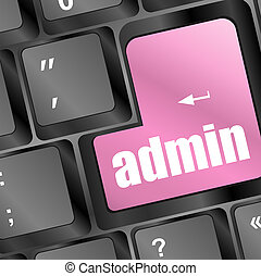 admin button on a computer keyboard
