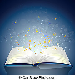 Book with Notes - Vector Illustration of an open Book with...