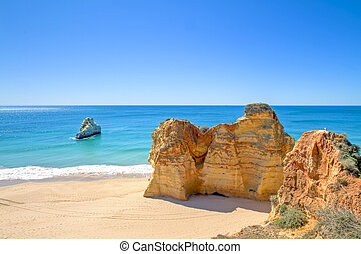 natural rocks at Praia da Rocha Portugal - Natural rocks at...